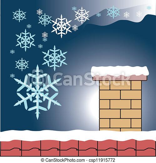 snowflake, chaminé - csp11915772