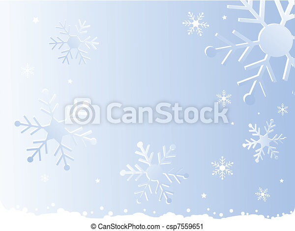 snowflake, christmas background - csp7559651