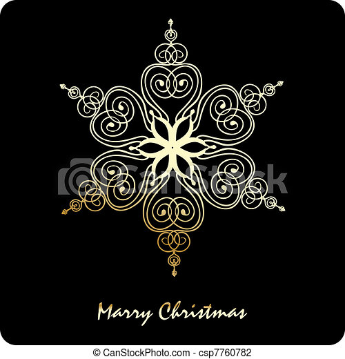Snowflake Christmas vector - csp7760782