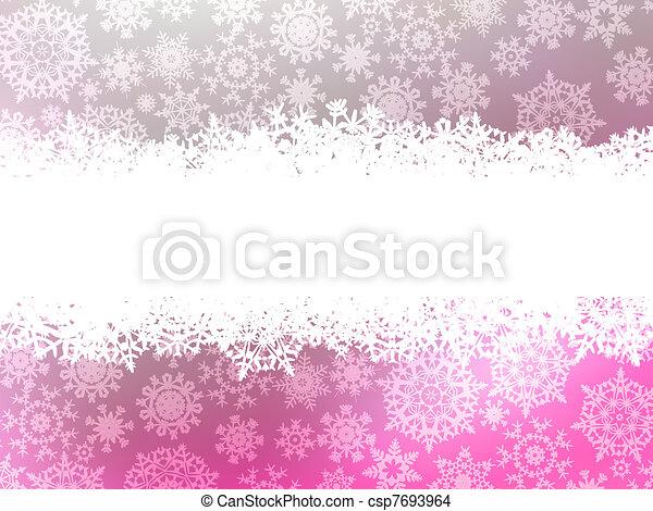 Snowflake christmas with white snow flake. EPS 8 - csp7693964