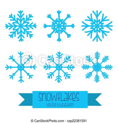Snowflake Design Snowflake Graphic Design Vector Illustration Canstock