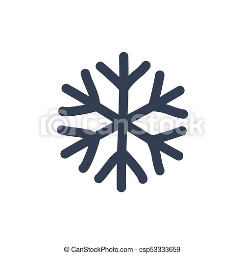 Snowflake Icon Black Silhouette Snow Flake Sign Isolated