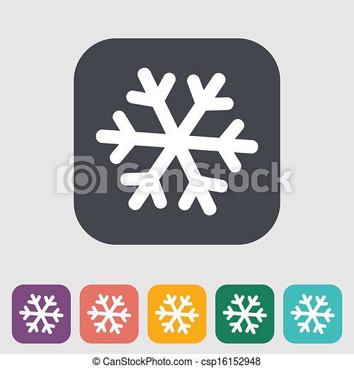 Snowflake icon. - csp16152948