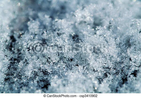 snowflake macro background - csp3410902