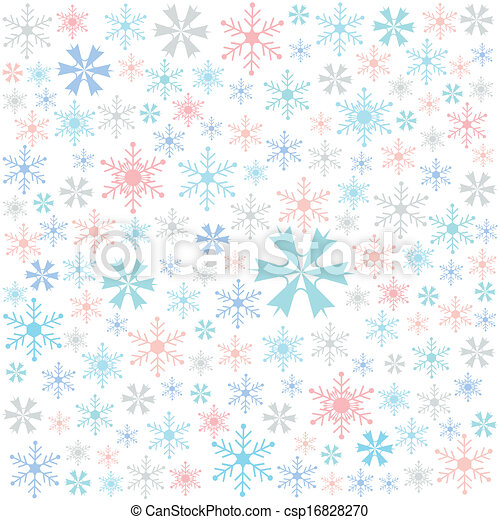 snowflake, merry christmas card - csp16828270