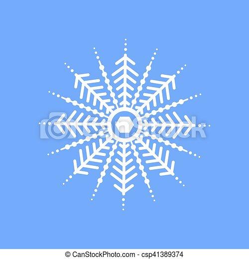 Snowflake on blue background for winter invitation card vectors snowflake on blue background for winter invitation card vector logo icon template merry christmas stopboris Choice Image