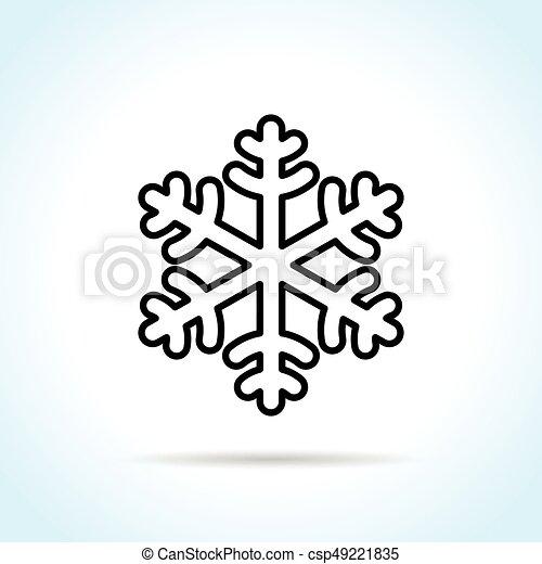 snowflake on white background - csp49221835