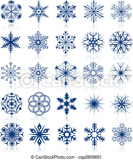 Snowflake shapes set 2 - csp2809691