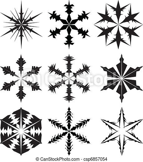 snowflake silhouette vector snowflake as ornament for christmas