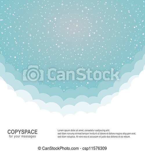 snowflake snow stars blue white background - csp11576309