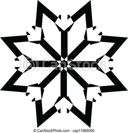 creative abstract conceptual drawing art of snowflake star vector rh canstockphoto com snowflake vector art free snowflake vector art
