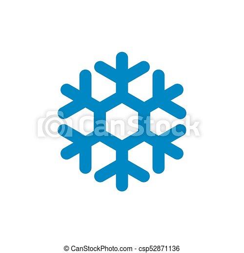 Snowflake Vector Icon Snowflake Sign Blue Snowflake Icon Isolated