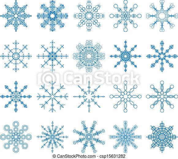 Snowflake Vector Set - csp15631282
