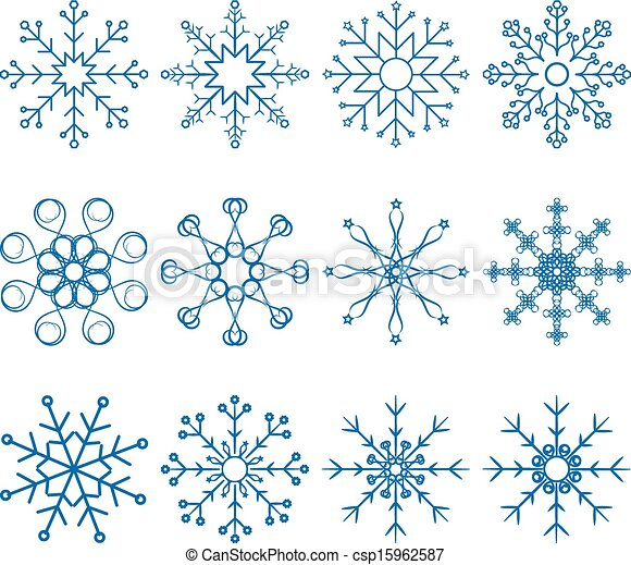 Snowflake Vector Set - csp15962587