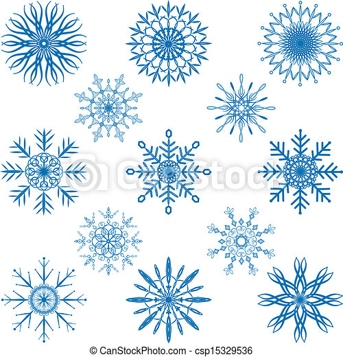 Snowflake Vector Set - csp15329536