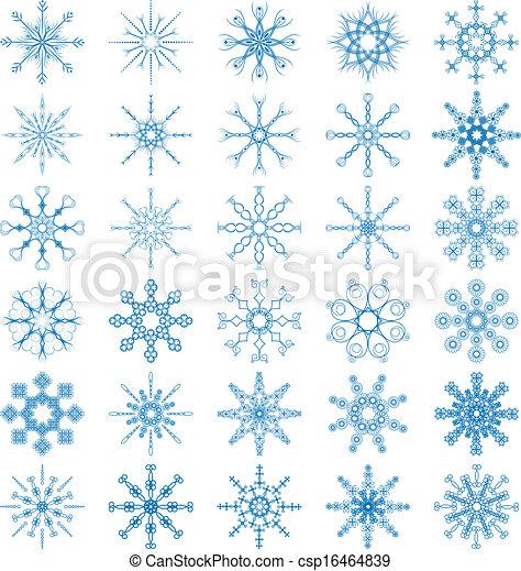 Snowflake Vector Set - csp16464839