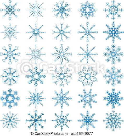 Snowflake Vector Set - csp16249077