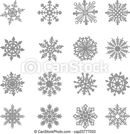 Snowflake Vector, star, white, symbol, graphic, crystal, frozen, - csp23777033