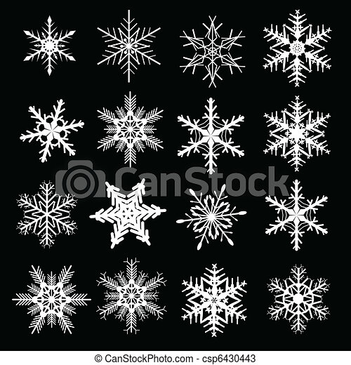 Snowflake winter set - csp6430443