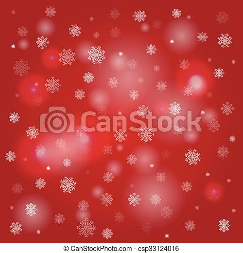 snowflakes and blurry lights red background snowflakes and blurry