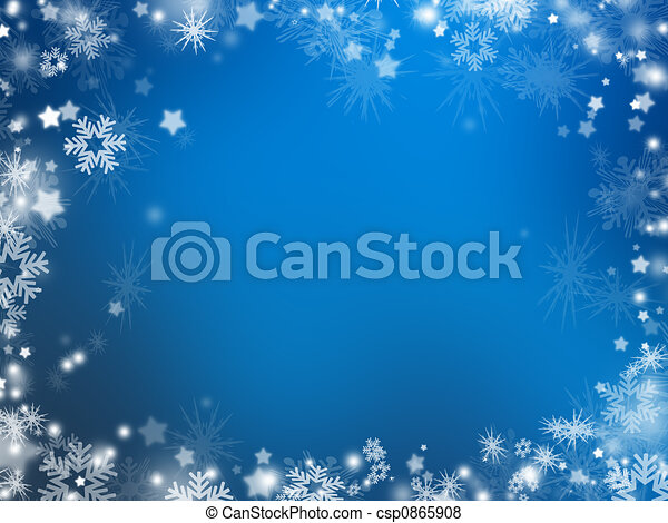 Snowflakes and stars - csp0865908