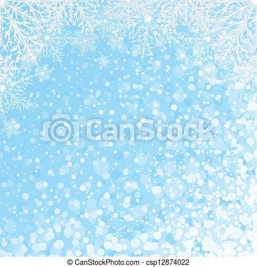 Snowflakes Backdrop Vector - csp12874022