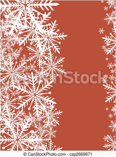 snowflakes background - csp2669971