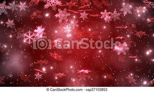 snowflakes., beutiful, fond, chute neige, noël - csp37103853