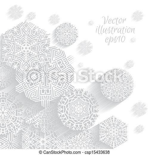 snowflakes., boże narodzenie, tło - csp15433638