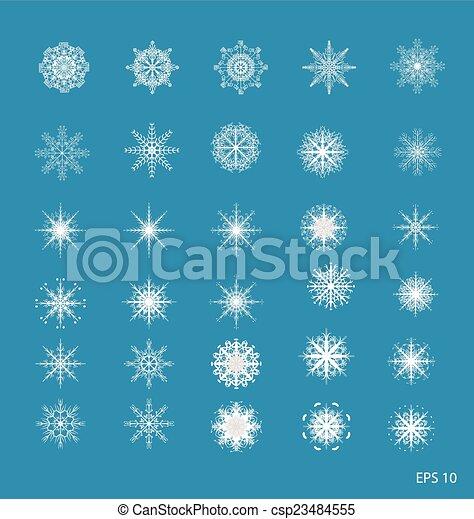snowflakes - csp23484555