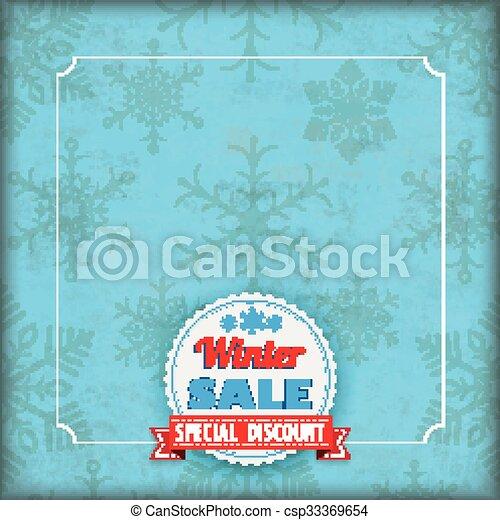 snowflakes, cobertura, inverno, vindima, venda - csp33369654