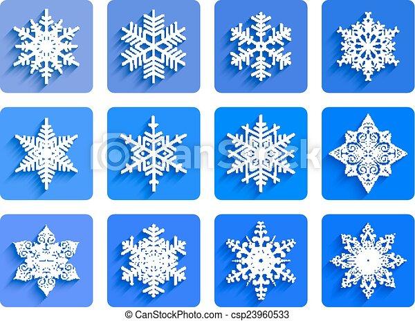 Snowflakes collection - csp23960533