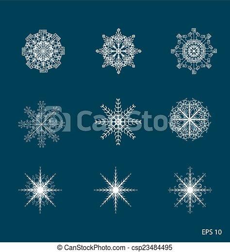 snowflakes - csp23484495