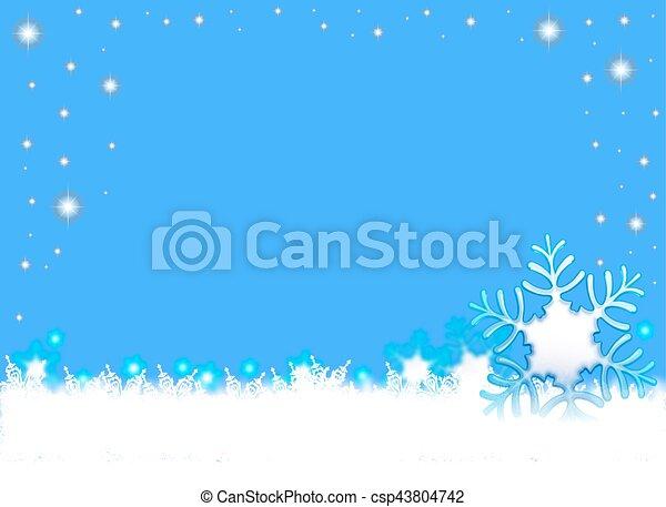 snowflakes - csp43804742