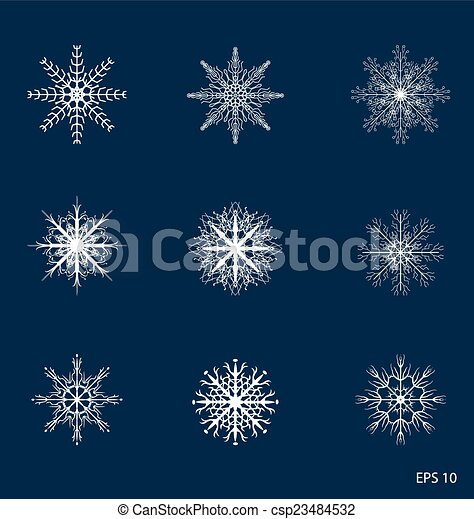 snowflakes - csp23484532