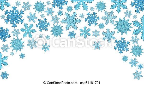 snowflakes., fond, vecteur, noël, illustration - csp61181701
