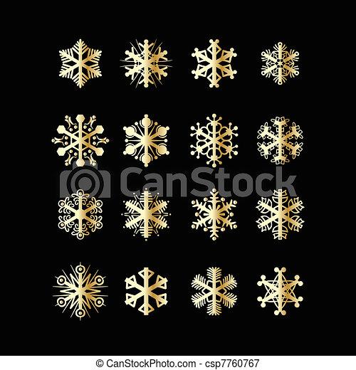 Snowflakes icons - csp7760767