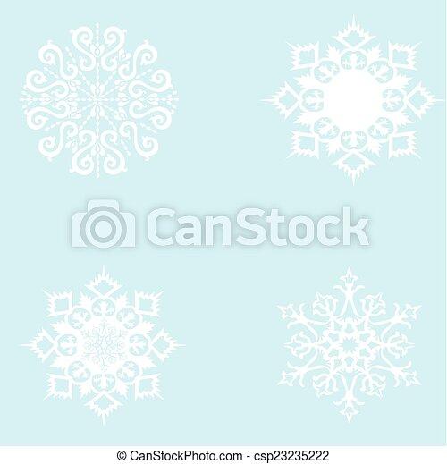 snowflakes. - csp23235222