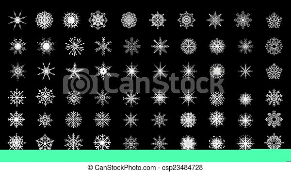 snowflakes - csp23484728