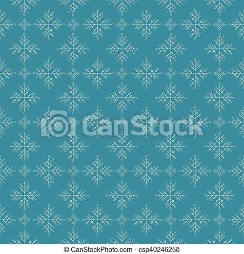 Snowflakes on dark blue sky - csp40246258