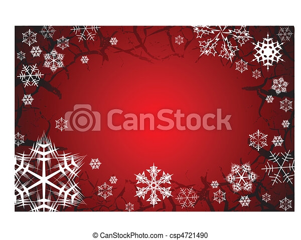 Snowflakes on grunge background - csp4721490