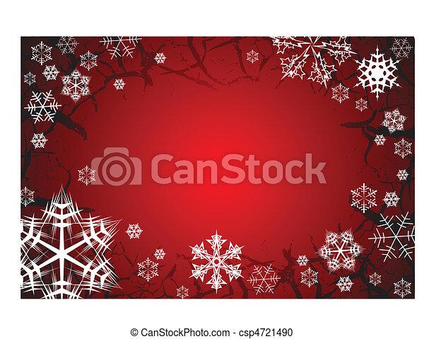 Snowflakes on grunge background - csp4721490