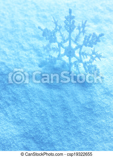 Snowflakes on snow background. - csp19322655