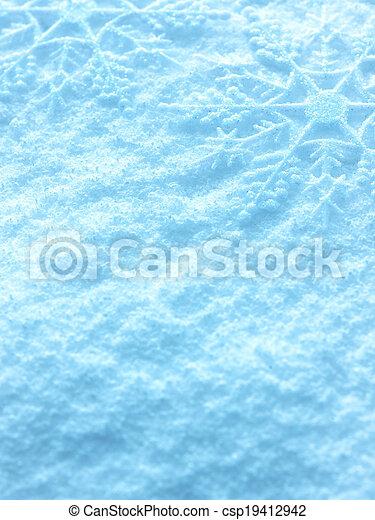 Snowflakes on snow background. - csp19412942