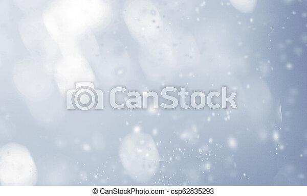 snowflakes., résumé, brouillé, lumières, incandescent, fond, noël - csp62835293