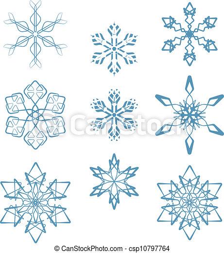 Snowflakes set - csp10797764