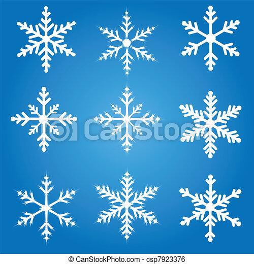 Snowflakes Set - csp7923376