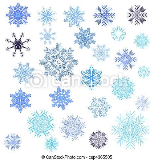 Snowflakes set - csp4365505