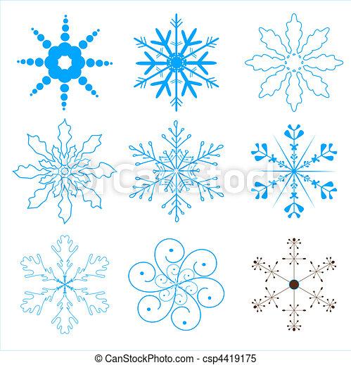 snowflakes set - csp4419175