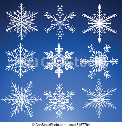 Snowflakes set - csp15457794